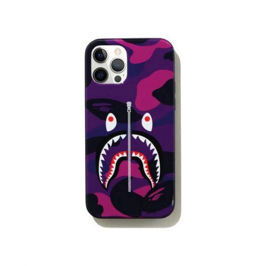 Bape Color Camo Shark Iphone 12/12 Pro Case Purple