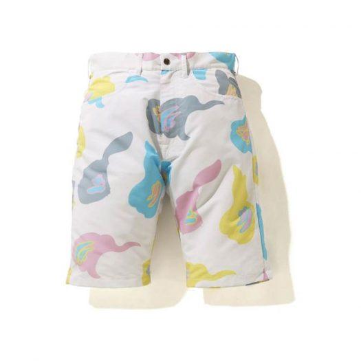 Bape Def Camo Wide Shorts White