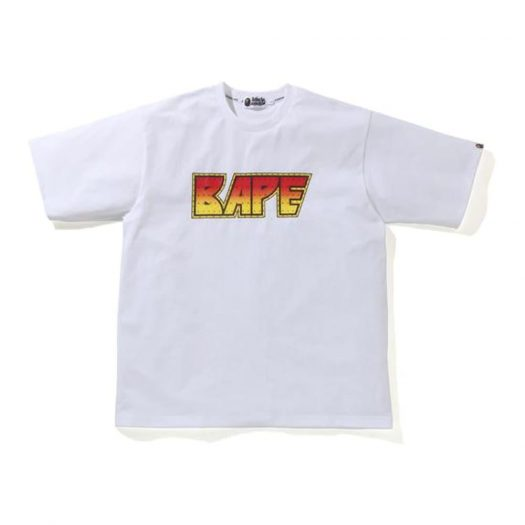 Bape Crystal Stone Relaxed Tee White