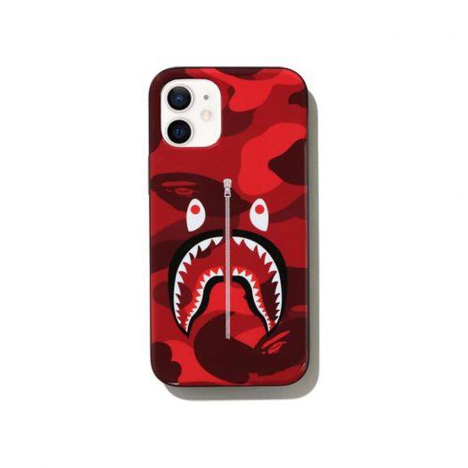 Bape Color Camo Shark Iphone 12 Mini Case Red