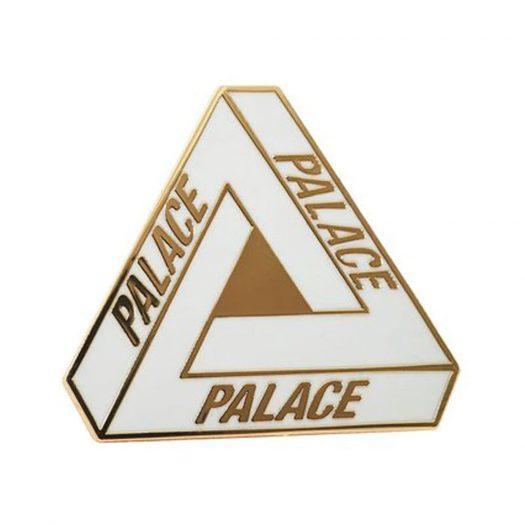 Palace Tri-Ferg Pin Badge White