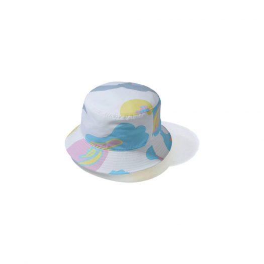 Bape Def Camo Bucket Hat White