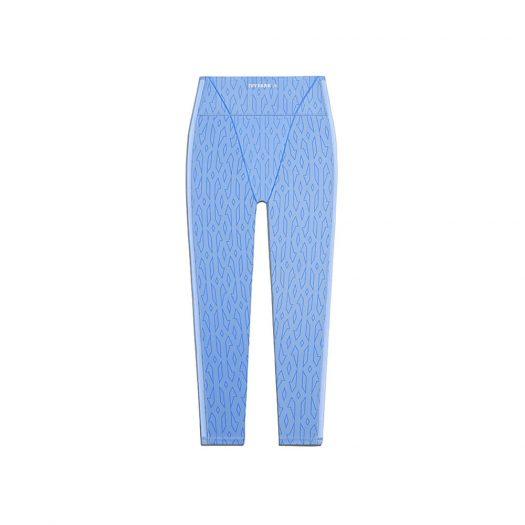 adidas Ivy Park Mesh Monogram Tights (Plus Size) Light Blue/Bright Blue