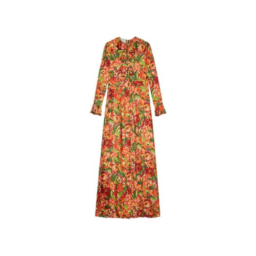 Gucci x The North Face Silk Dress Floral