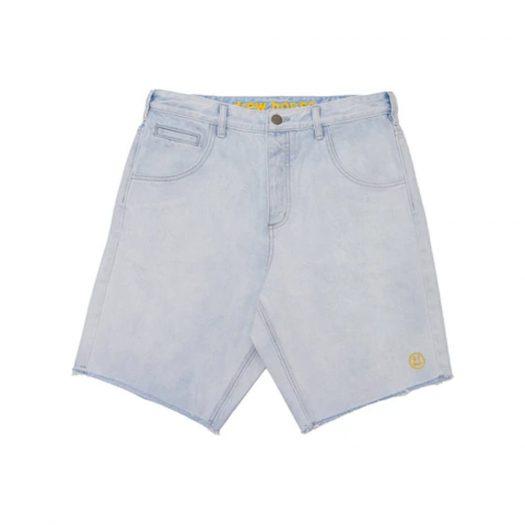 drew house theo patch denim shorts Vintage Bleach Wash