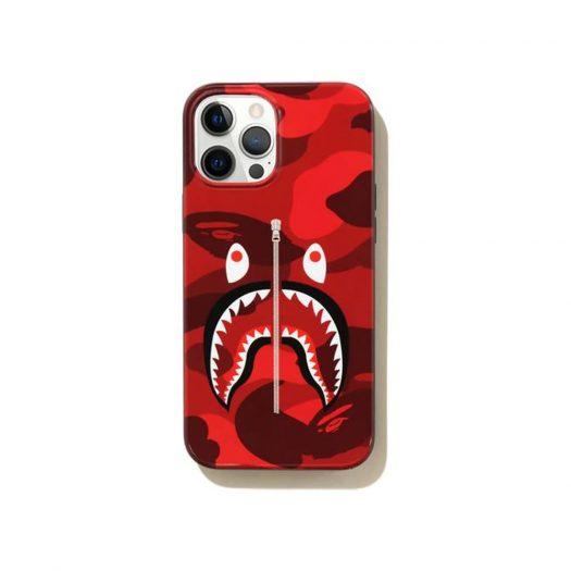 Bape Color Camo Shark Iphone 12 Pro Max Case Red