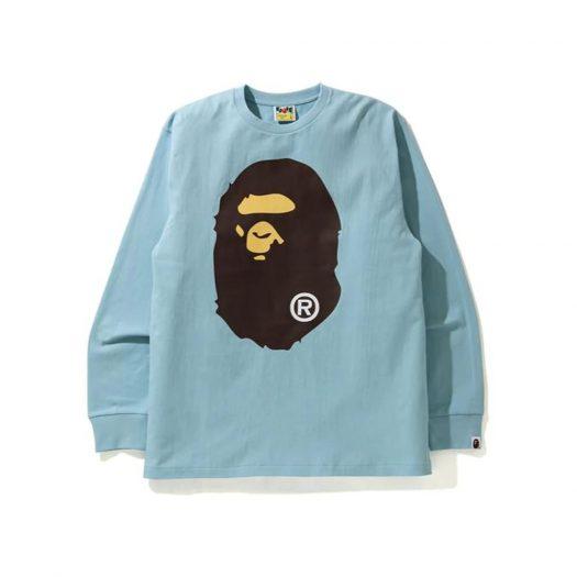 Bape Big Ape Head L/s Tee Sax