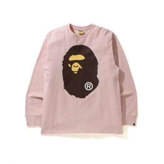 Bape Big Ape Head L/s Tee (Ss21) Pink