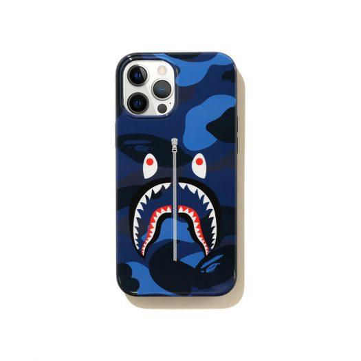 Bape Color Camo Shark Iphone 12 Pro Max Case Navy