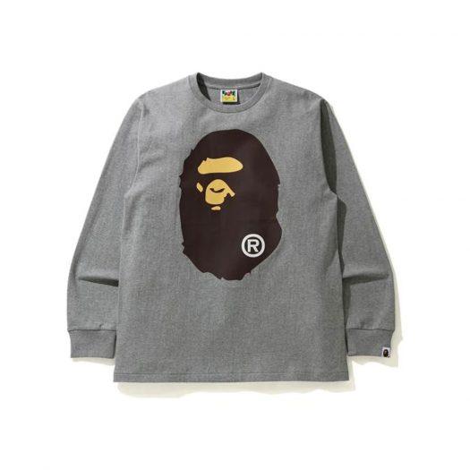 Bape Big Ape Head L/s Tee Tee Gray