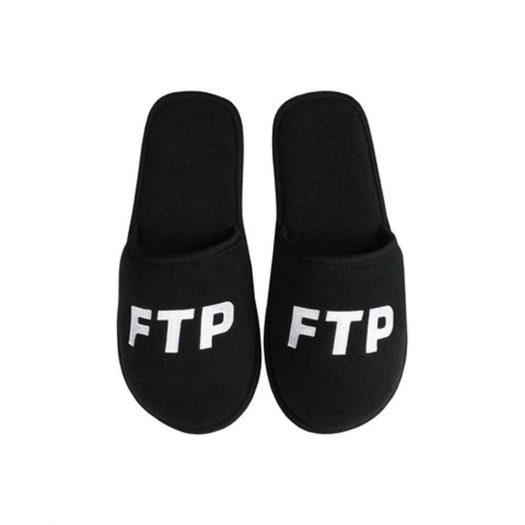 FTP Logo Slippers Black