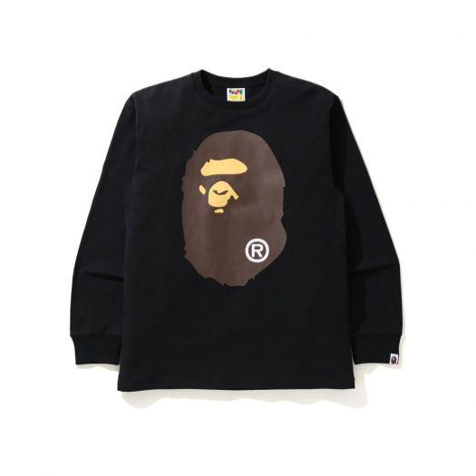 Bape Big Ape Head L/s Tee Tee Black