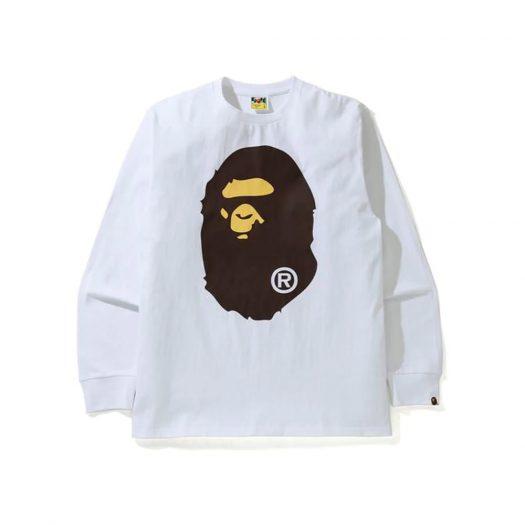 Bape Big Ape Head L/s Tee Tee White