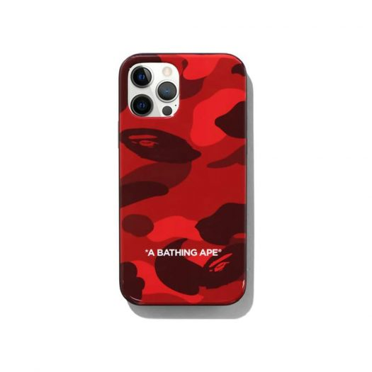 Bape Color Camo Iphone 12/12 Pro Case Red