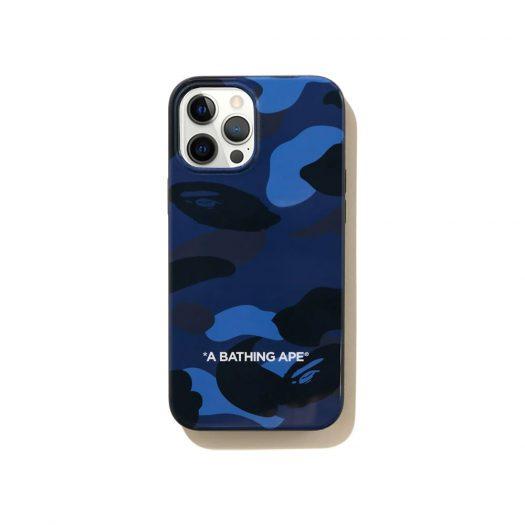 Bape Color Camo Iphone 12 Pro Max Case Navy