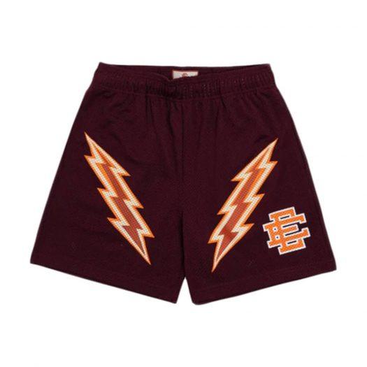 Eric Emanuel EE Basic Lightning Bolt Short Maroon/Orange/Bone