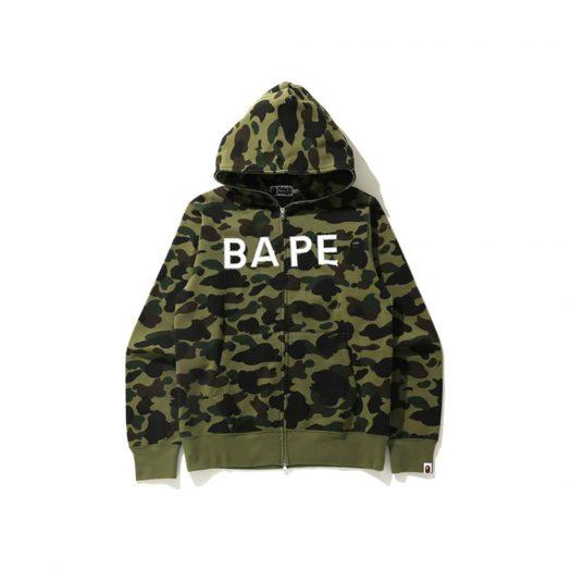 Bape 1st Camo Crystal Stone Full Zip Hoodie Green