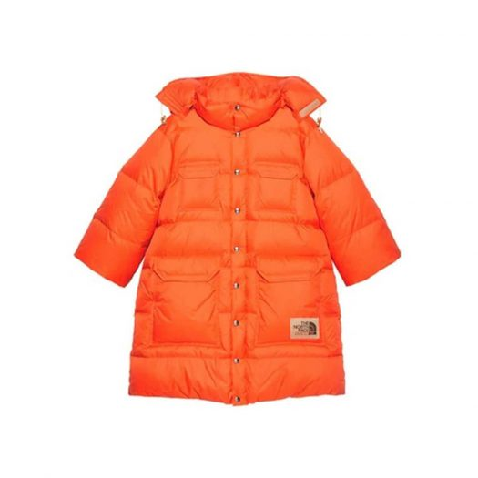 Gucci x The North Face Nylon Jacket Orange