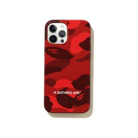 Bape Color Camo Iphone 12 Pro Max Case Red