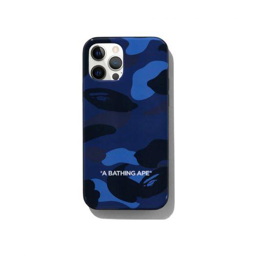 Bape Color Camo Iphone 12/12 Pro Case Navy