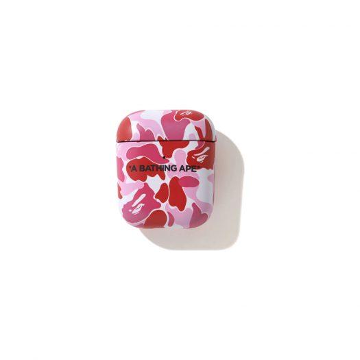 Bape Abc Camo Airpods Case Pink