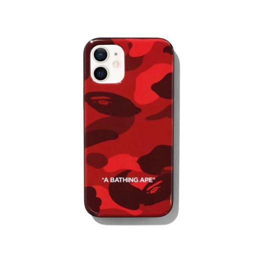 Bape Color Camo Iphone 12 Mini Case Red