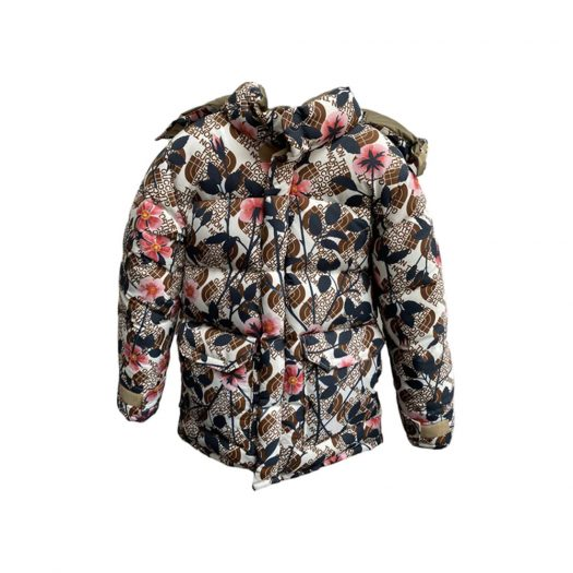 Gucci x The North Face Floral Down Parka Ivory/Pink