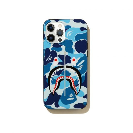 Bape Abc Camo Shark Iphone 12 Pro Max Case Blue