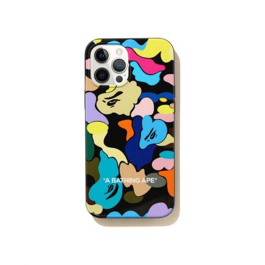 Bape Multi Camo Iphone 12 Pro Max Case Black