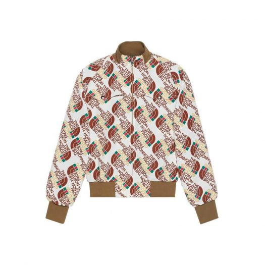 Gucci x The North Face Web Print Technical Jersey Jacket Brown/Beige