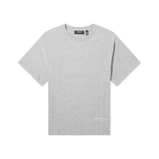 Fear Of God Essentials 3m Logo Boxy T-shirt Dark Heather Grey/black