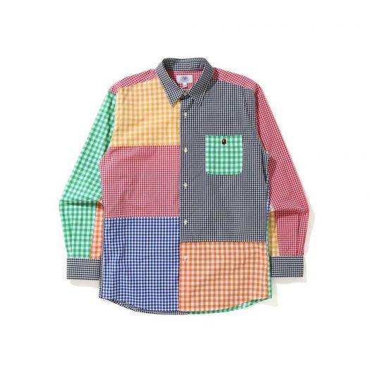 Bape Gingham Check Multi Pattern Shirt Multi