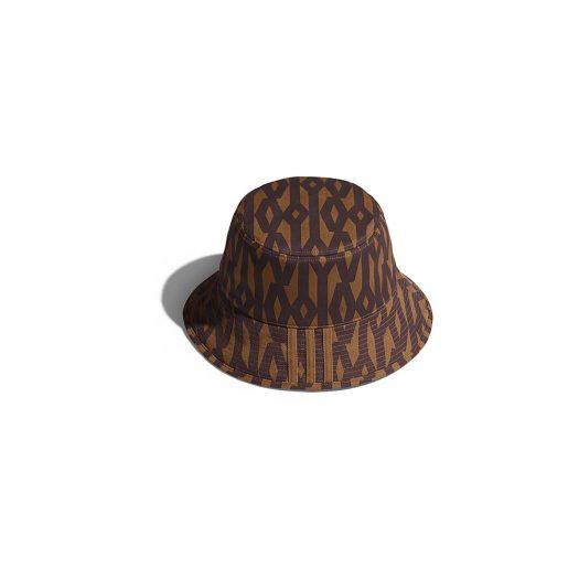 adidas Ivy Park Reversible Monogram Bucket Hat Wild Brown