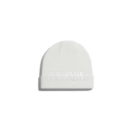 adidas Ivy Park Cut-Off Logo Beanie Core White