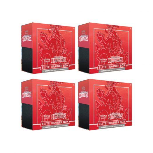 2021 Pokemon TCG Sword & Shield Battle Styles Elite Trainer Box Single Strike 4x Lot