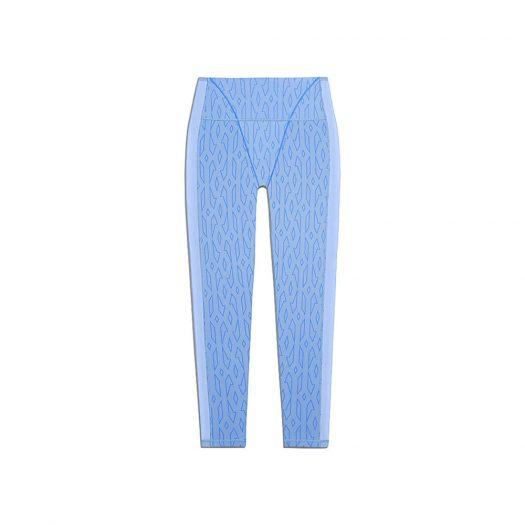 adidas Ivy Park Mesh Monogram Tights Light Blue/Bright Blue