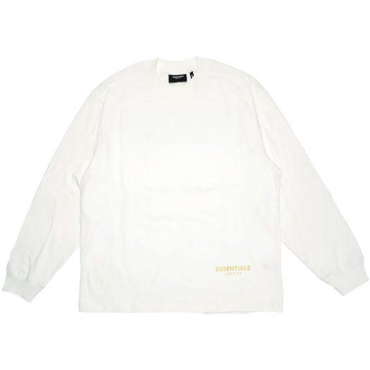 Fear Of God Essentials Long Beach 3m Long Sleeve Boxy T-shirt White