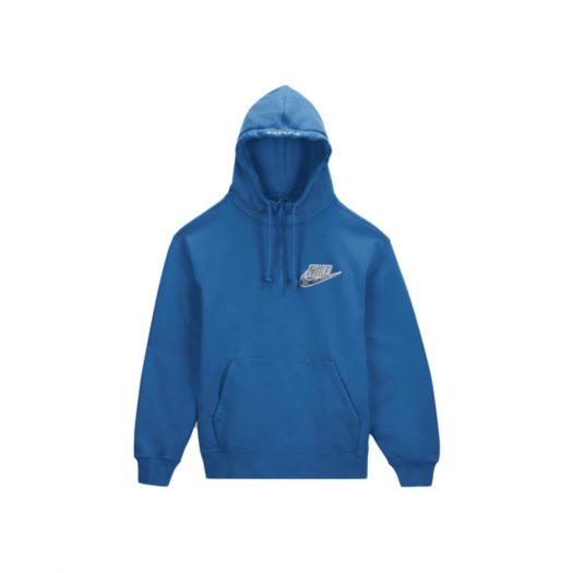 Supreme Nike Half Zip Hooded Sweatshirt Blue