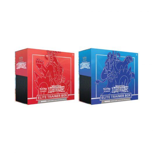 2021 Pokemon TCG Sword & Shield Battle Styles Elite Trainer Box Single Strike/Rapid Strike Bundle