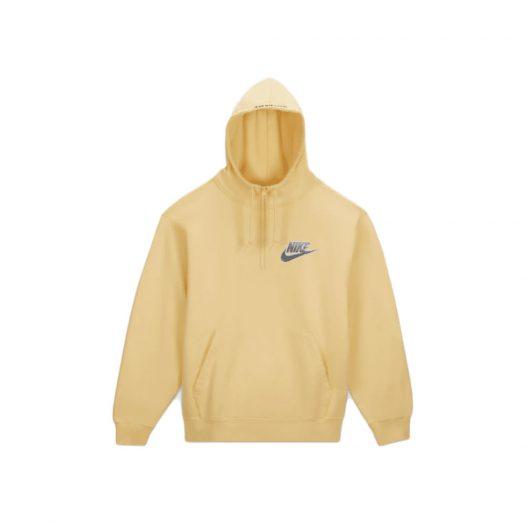 Supreme Nike Half Zip Hooded Sweatshirt Pale Yellow