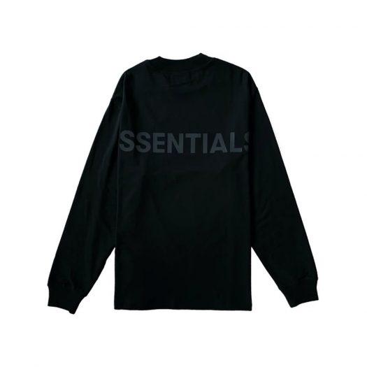 Fear Of God Essentials Logo Boxy Long Sleeve T-shirt Black/black