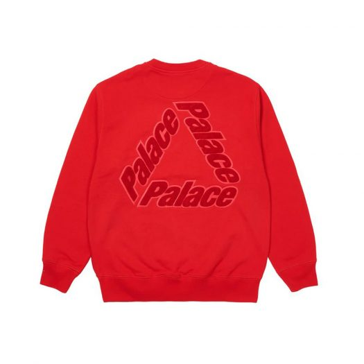 Palace P-3 Chenille Crew Red