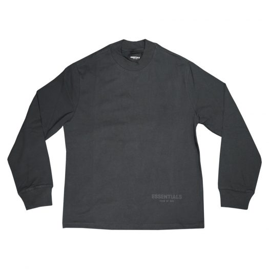 Fear Of God Essentials 3m Logo Long Sleeve Boxy T-shirt Black/white