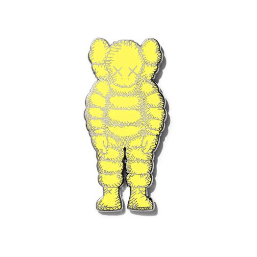 KAWS Brooklyn Museum WHAT PARTY Pin Yellow