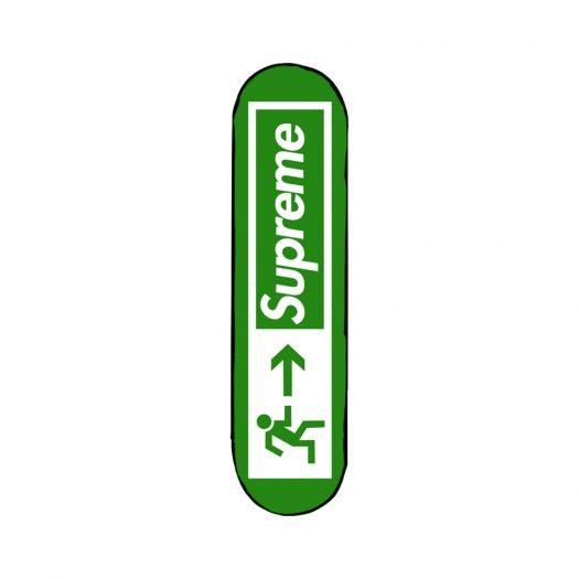 Supreme Exit Skateboard Deck Green
