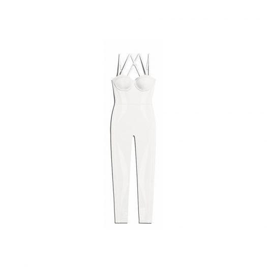 adidas Ivy Park Knit Catsuit Core White