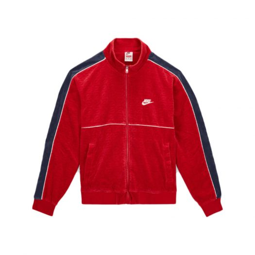 Supreme Nike Velour Track Jacket Red