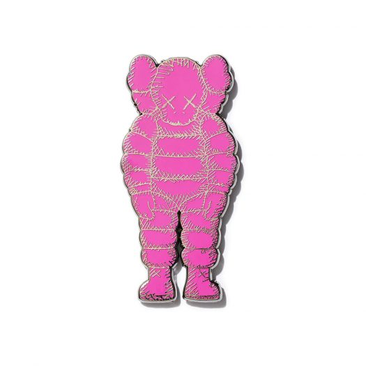 KAWS Brooklyn Museum WHAT PARTY Pin Pink