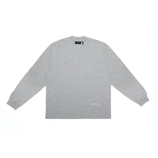 Fear Of God Essentials 3m Logo Boxy Long Sleeve T-shirt Dark Heather Grey/grey