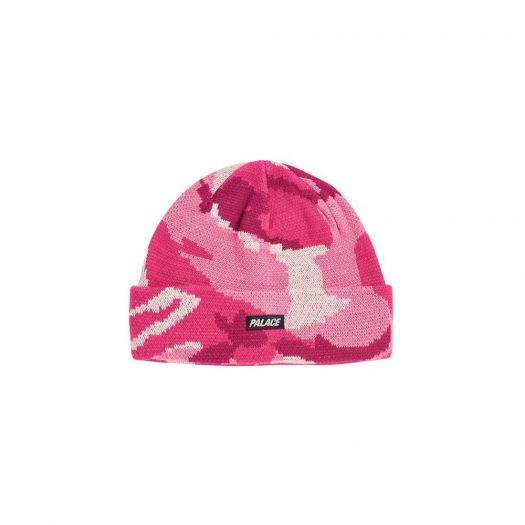 Palace Basically A Beanie Pink Camo